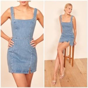 NWT Reformation Mark Chambray Mini Dress